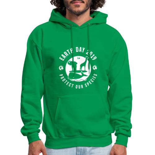 Earth Day 2019 Protect Our Species Mens Green Hoodie - Men's Hoodie