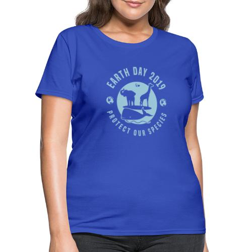 Earth Day 2019 Protect Our Species Womens Tshirt - Women's T-Shirt