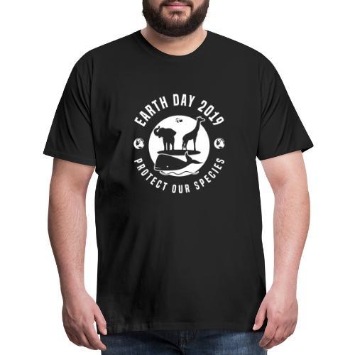 Earth Day 2019 Protect Our Species Mens Black Premium T-shirt - Men's Premium T-Shirt