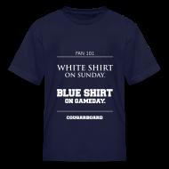 Kids' Shirts ~ Kids' T-Shirt ~ Blue Shirt on Gameday Kids T-Shirt