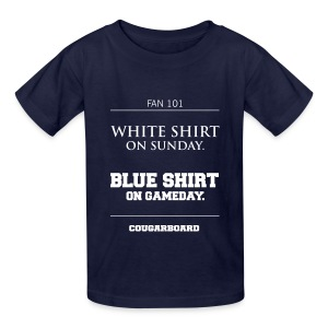 Blue Shirt on Gameday Kids T-Shirt - Kids' T-Shirt