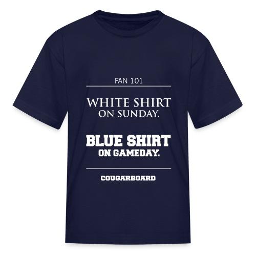 Blue Shirt on Gameday Kids T-Shirt - Kids' T-Shirt