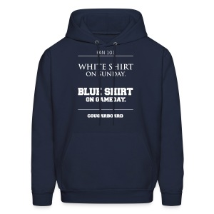 Blue Shirt on Gameday Hoodie - Men's Hoodie