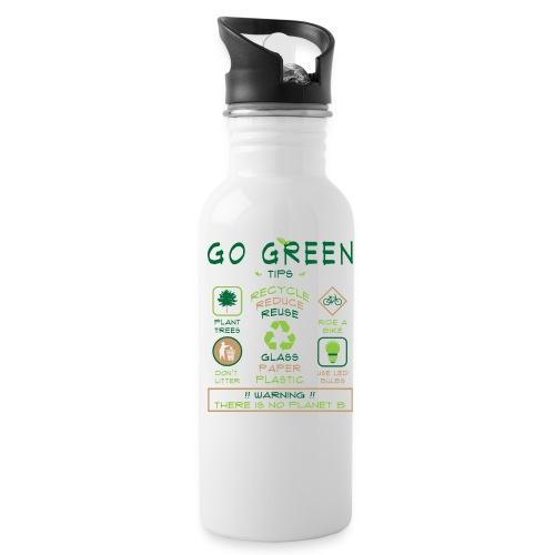 Go Green Eco Tips Custom Water Bottle - Water Bottle