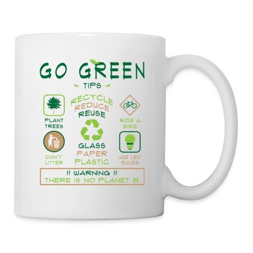 Go Green Eco Tips Printed White Coffee Mug - Coffee/Tea Mug
