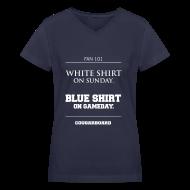 Women's T-Shirts ~ Women's V-Neck T-Shirt ~ Blue Shirt on Gameday Women's V-neck T-Shirt