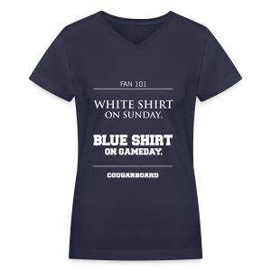 Blue Shirt on Gameday Women's V-neck T-Shirt - Women's V-Neck T-Shirt