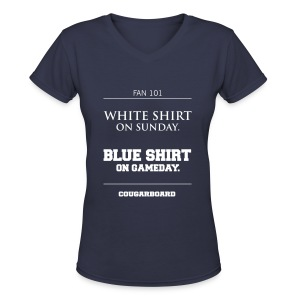 Blue Shirt on Gameday Women's V-neck T-Shirt - Women's V-Neck T-Shirt