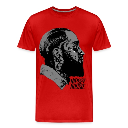 R.I.P. NIPSEY HUSSLE (RED) - Men's Premium T-Shirt