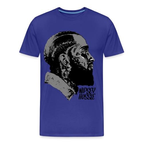 R.I.P. NIPSEY HUSSLE (BLUE) - Men's Premium T-Shirt