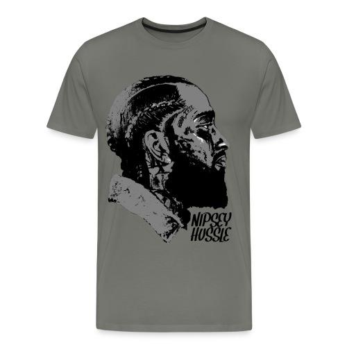 R.I.P. NIPSEY HUSSLE (GREY) - Men's Premium T-Shirt