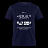 T-Shirts ~ Men's T-Shirt ~ Blue Shirt on Gameday T-shirt