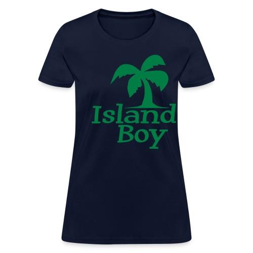 Ladies Palm Logo (Navy) - Women's T-Shirt