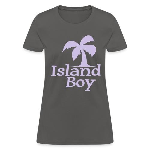 Ladies Palm Logo (Grey) - Women's T-Shirt