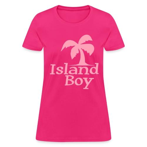 Ladies Palm Logo (Fuchsia) - Women's T-Shirt