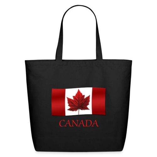 Canada Flag Tote Bags Eco-friendly Personalized Canada Souvenirs - Eco-Friendly Cotton Tote