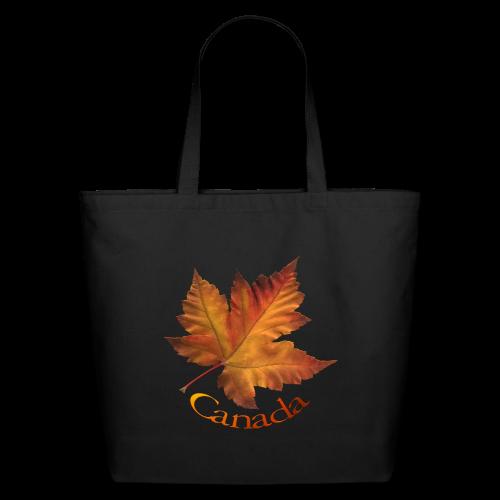 Canada Tote Bags Autumn Maple Leaf Canada Bags - Eco-Friendly Cotton Tote