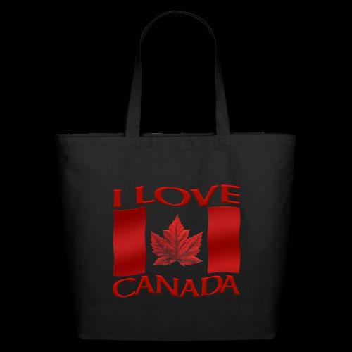 I Love Canada Tote Bags Canada Souvenir Bags - Eco-Friendly Cotton Tote