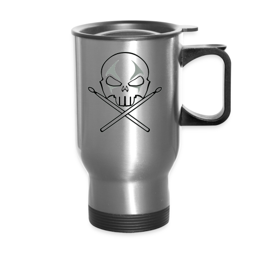 Rock and Roll Drummer Travel Mugs Heavy Metal Drummer  Mugs - Travel Mug
