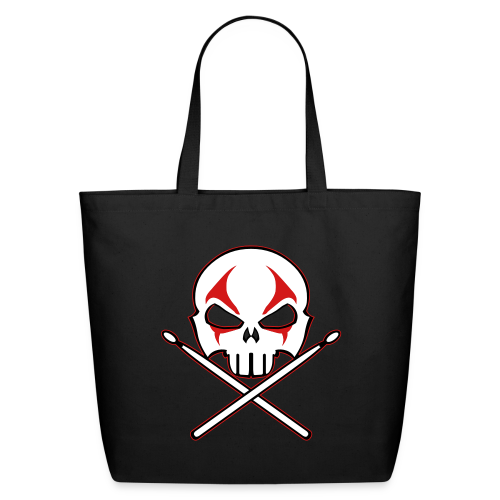 Rock and Roll Drummer Bags Heavy Metal Drummer Tote Bags - Eco-Friendly Cotton Tote