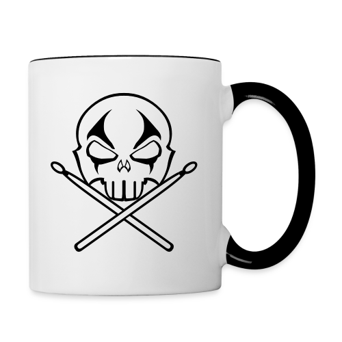 Rock and Roll Drummer Cups Heavy Metal Drummer  Mugs - Contrast Coffee Mug