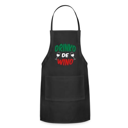 Drinko de Wino Cinco de Mayo Black Cook Chef Apron - Adjustable Apron
