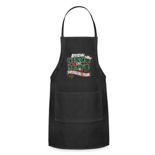 Cinco de Mayo Drinking Team Black BBQ Cooking Apron - Adjustable Apron