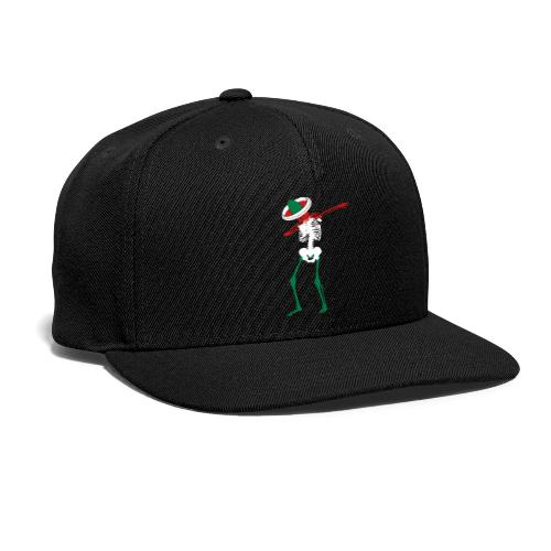 Cinco de Mayo Dab Skeleton Black Snapback Cap - Snap-back Baseball Cap