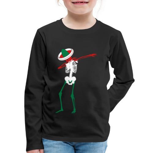 Cinco de Mayo Dab Skeleton Kids Premium Long Sleeve T-shirt - Kids' Premium Long Sleeve T-Shirt