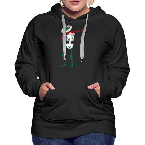 Cinco de Mayo Dab Skeleton Womens Premium Hoodie - Women's Premium Hoodie