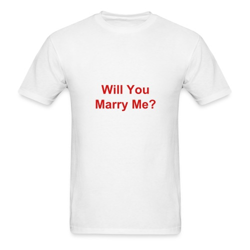 Valentine Prank - Just Kidding - Marriage Proposal With an Out - Men's T-Shirt