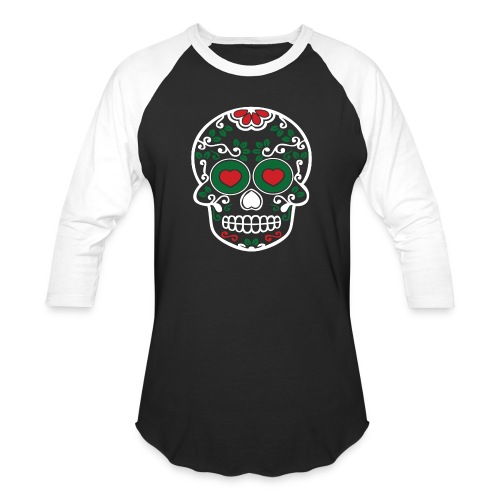 Sugar Skull Cinco de Mayo Unisex Long Sleeve Baseball T-shirt - Baseball T-Shirt