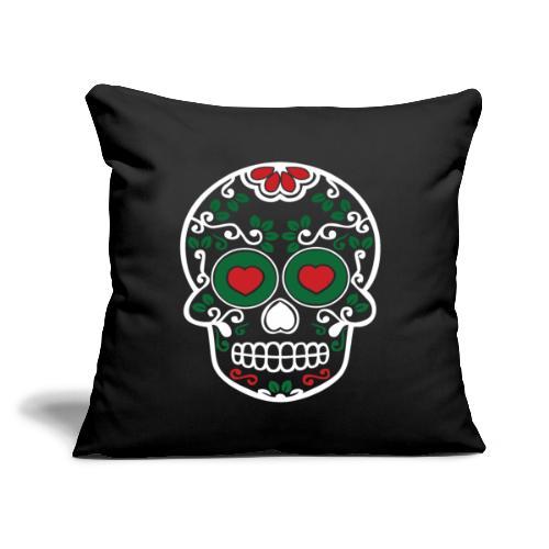 """Sugar Skull Cinco de Mayo Printed Throw Pillow Cover - Throw Pillow Cover 18"""" x 18"""""""