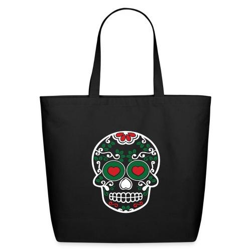 Sugar Skull Cinco de Mayo Eco-Friendly Cotton Tote Bag - Eco-Friendly Cotton Tote