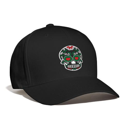 Sugar Skull Cinco de Mayo Black Baseball Cap - Baseball Cap