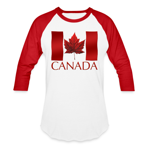 Canada Baseball Jerseys Canada Flag Souvenir Shirts - Baseball T-Shirt