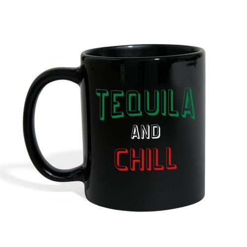 Tequila And Chill Printed Black Coffee Mug - Full Color Mug