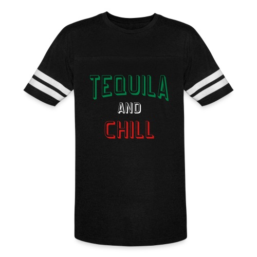 Tequila And Chill Mens Vintage Sports Tee - Vintage Sport T-Shirt