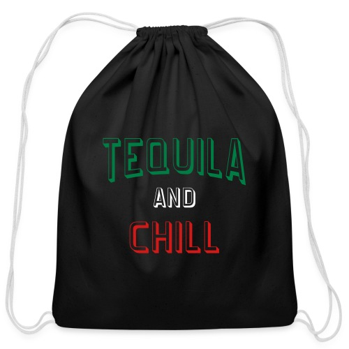 Tequila And Chill Cotton Drawstring Bag - Cotton Drawstring Bag