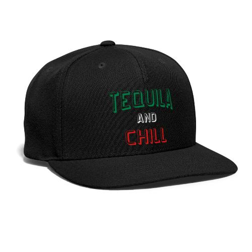 Tequila And Chill Black Snapback Cap - Snap-back Baseball Cap