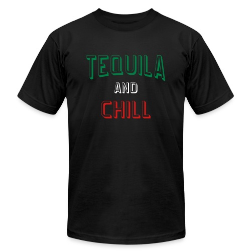 Tequila And Chill Mens Jersey T-shirt - Men's  Jersey T-Shirt