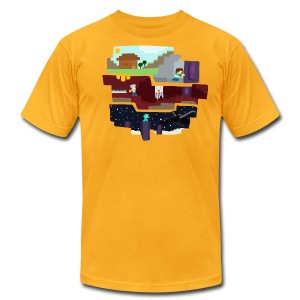 Beginning to End - Minecraft Inspired T-Shirt - Men's T-Shirt by American Apparel