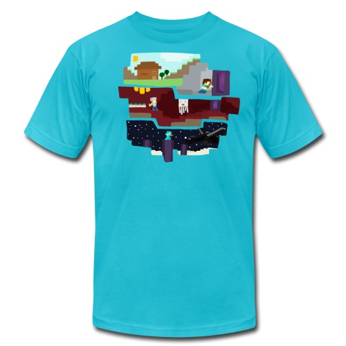 Beginning to End - Minecraft Inspired T-Shirt - Men's Fine Jersey T-Shirt