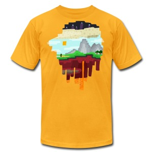 The 3 Realms - Minecraft Inspired T-Shirt - Men's T-Shirt by American Apparel