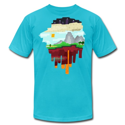 The 3 Realms - Minecraft Inspired T-Shirt - Men's Fine Jersey T-Shirt