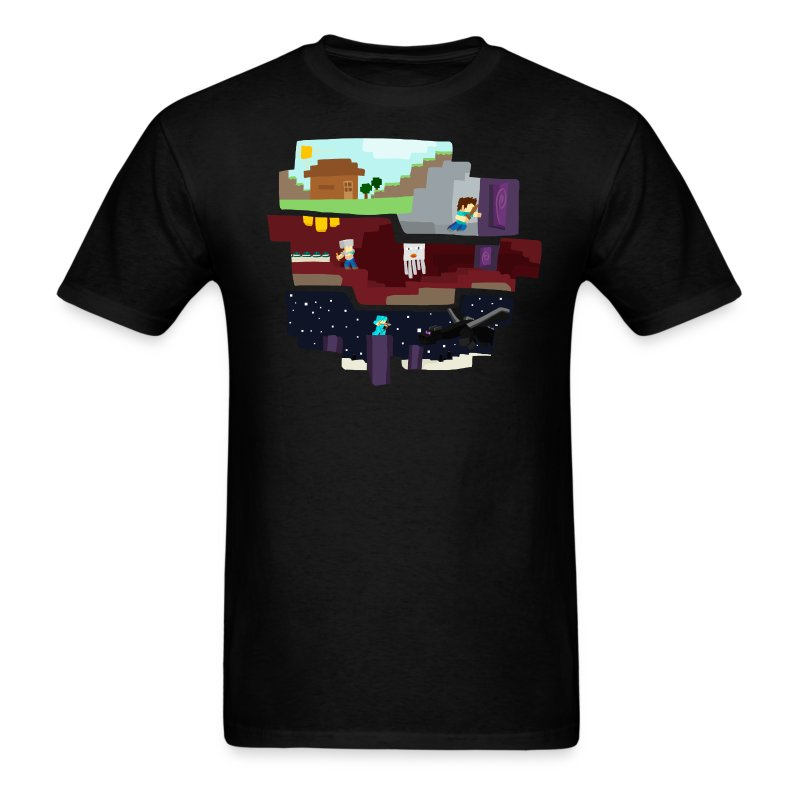 Beginning To End - Minecraft Inspired T-Shirt - Men's T-Shirt