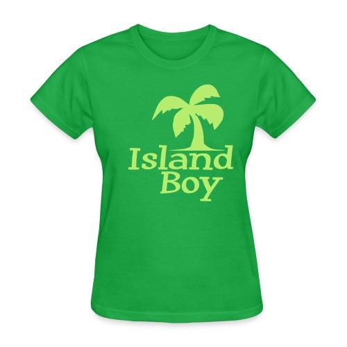 Ladies Palm Logo (Green) - Women's T-Shirt