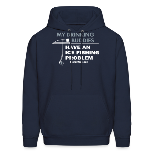 My Drinking Buddies - Metallic Silver - Men's Hoodie