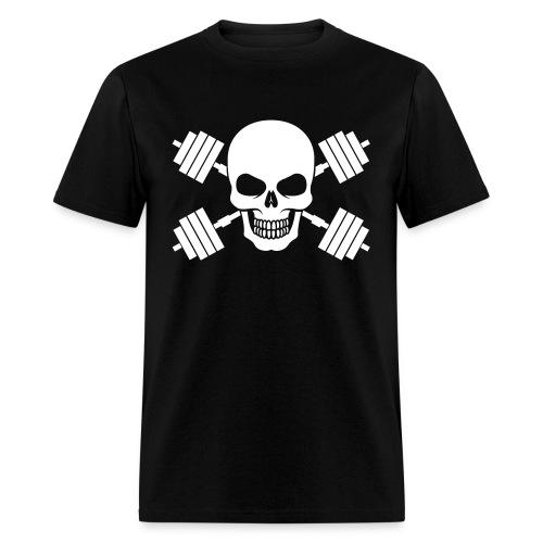 Skull & Barbells  - Men's T-Shirt