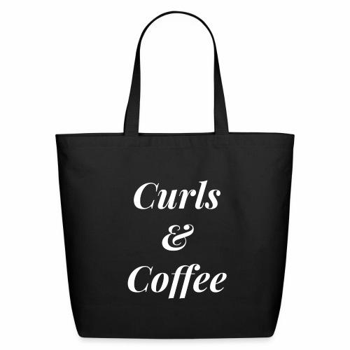 Curls & Coffee Tote - Eco-Friendly Cotton Tote